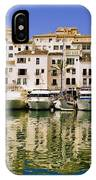 Boats And Houses On Waterfront IPhone Case