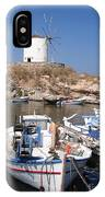 Boats And Windmill IPhone Case