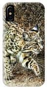 Bobcat Stalking Prey IPhone Case