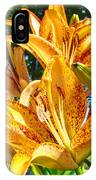 Bold Colorful Orange Lily Flowers Garden IPhone Case