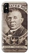 Booker T Washington Postage Stamp IPhone Case