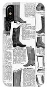 Boots Advertisement, 1895 IPhone Case