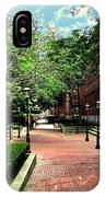 Boott Cotton Mills Courtyard 2 IPhone Case