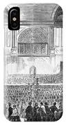 Boston: Music Hall, 1856 IPhone Case