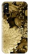 Bouquet In Sepia IPhone Case