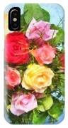 Bouquet Of Colorful Flowers - Digital Watercolor Painting IPhone Case