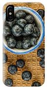 Bowl Of Fresh Blueberries IPhone Case