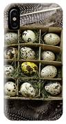 Box Of Quail Eggs IPhone Case