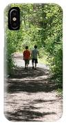 Boys Hiking In Woods IPhone Case