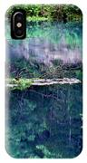 Branch And Reflections At Alley Spring State Park IPhone Case