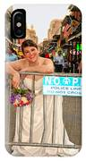 Bride And The Barricade On Bourbon Street IPhone Case