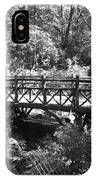 Bridge Of Centralpark In Black And White IPhone Case