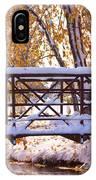 Bridge Over Icy Waters IPhone Case