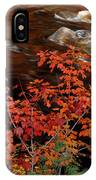 Bright Leaves At Swift River IPhone Case