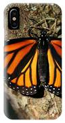 Bright Orange Monarch Butterfly IPhone Case