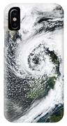 British Isles Storm And Ash Plume, 2011 IPhone Case