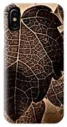 Brown Ivy IPhone Case