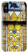 Brown Stained Glass Window IPhone Case
