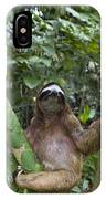 Brown Throated Three Toed Sloth Male IPhone Case