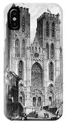 Brussels: Cathedral, 1838 IPhone Case