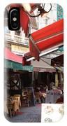 Brussels Restaurant Street - Rue De Bouchers IPhone Case