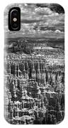 Bryce Canyon - Black And White IPhone Case