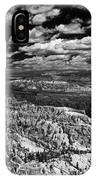 Bryce Canyon Ampitheater - Black And White IPhone Case