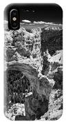 Bryce Canyon Arch - Black And White IPhone Case