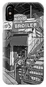 Bud'd Broiler New Orleans-bw IPhone Case