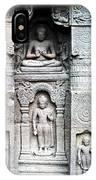 Buddha Carvings At Ajanta Caves IPhone Case