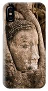 Buddha Head Strangled By The Roots  IPhone Case