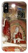 Buddha Image In Po Win Taung Caves. IPhone Case