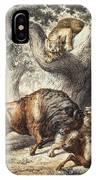Buffalo & Lynx IPhone Case