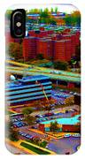 Buffalo New York Aerial View Neon Effect IPhone Case