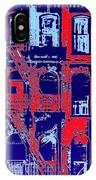 Building Facade In Blue And Red IPhone Case