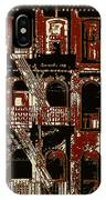 Building Facade In Brown And Red IPhone Case
