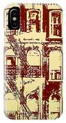 Building Facade Line Art IPhone Case