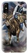 Bull Bucking His Rider IPhone Case