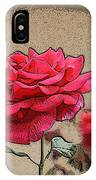 Bumble Bee And Rose IPhone Case