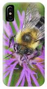 Bumblebee On A Purple Flower IPhone Case