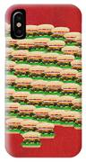 Burger Town Usa Map Red IPhone Case