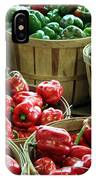 Bushels Of Green And Red IPhone Case