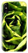 Buttercrunch Lettuce From Above IPhone Case