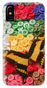 Butterfly And Buttons IPhone Case
