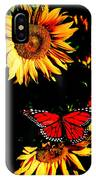 Butterfly And Sunflower IPhone Case