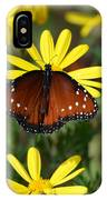 Butterfly And Yellow Flowers IPhone Case