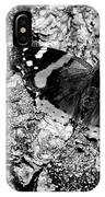 Butterfly Bark Black And White IPhone Case