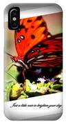 Butterfly Note Card IPhone Case