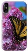Butterfly On Pink Lilac IPhone Case