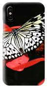 Butterfly On Red IPhone Case
